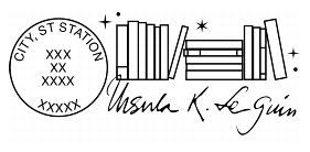 image of the special edition Ursula K. Le Guin postmark
