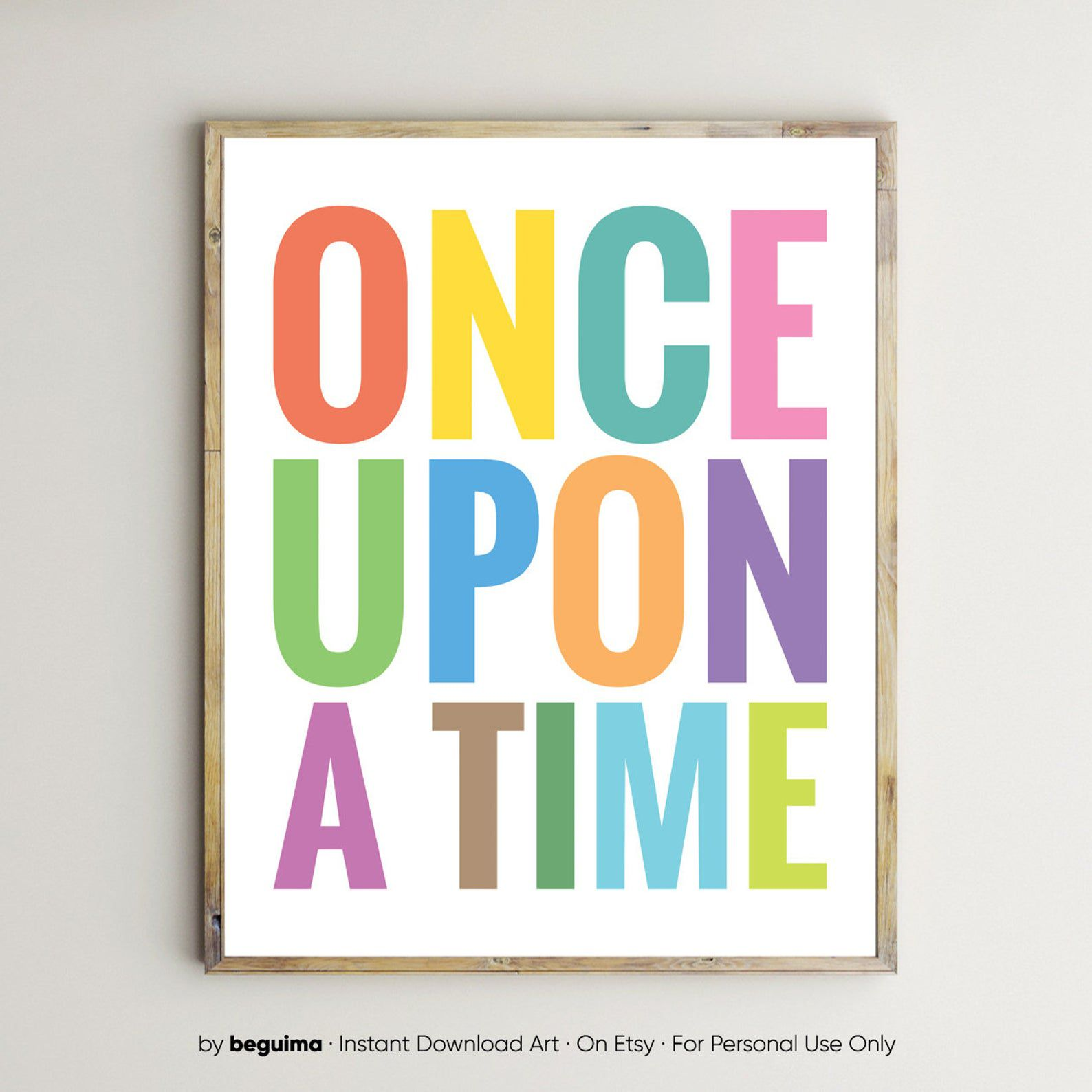 """Image of art reading """"Once Upon a Time."""""""