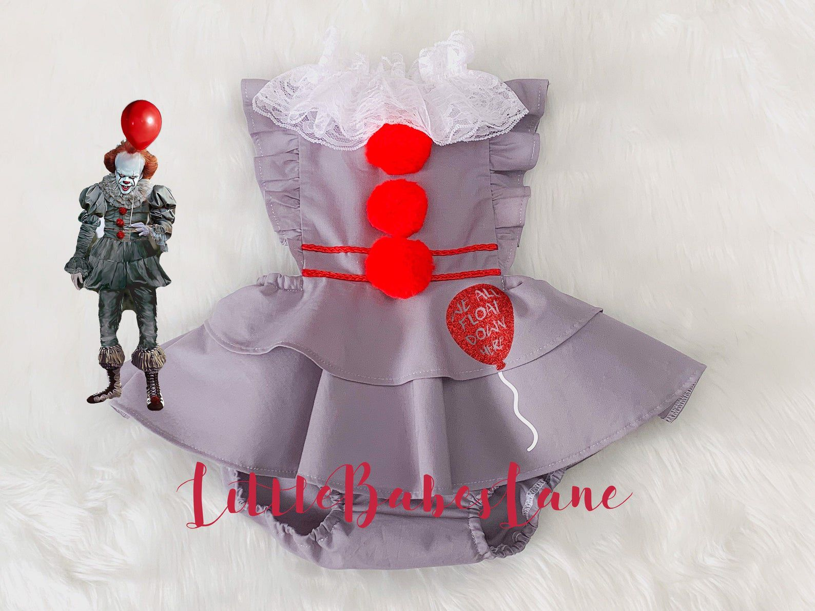 Image of Pennywise baby costume.