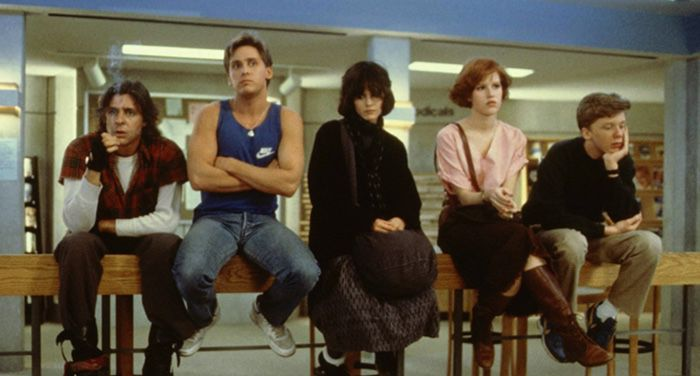 image of Molly Ringwald, Emilio Estevez, Judd Nelson, Ally Sheedy, and Anthony Michael Hall in The Breakfast Club (1985) https://www.imdb.com/title/tt0088847/mediaviewer/rm1290438144/