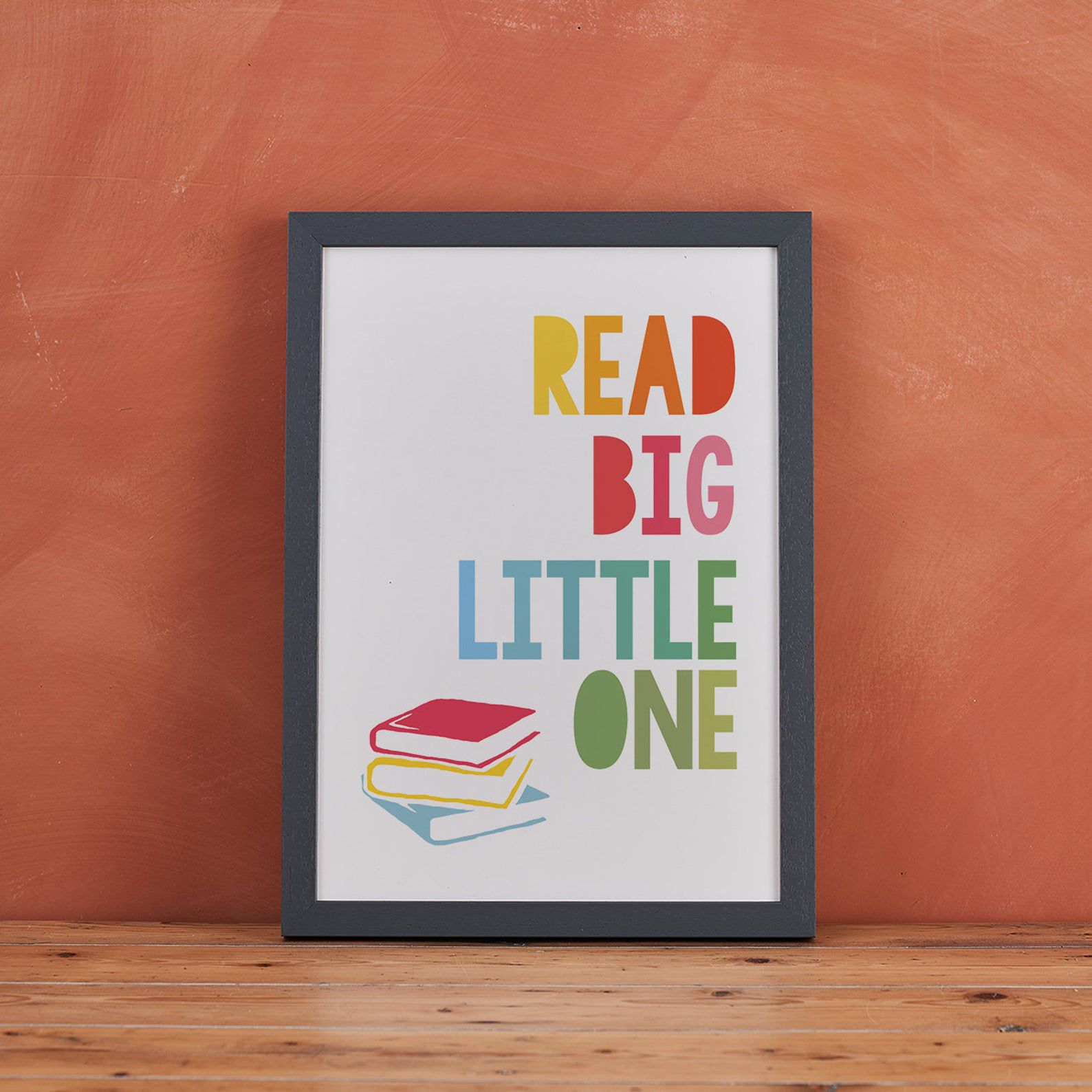 """Image of sign reading """"read big little one."""""""