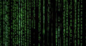 image of green binary code on a black screen https://unsplash.com/photos/iar-afB0QQw