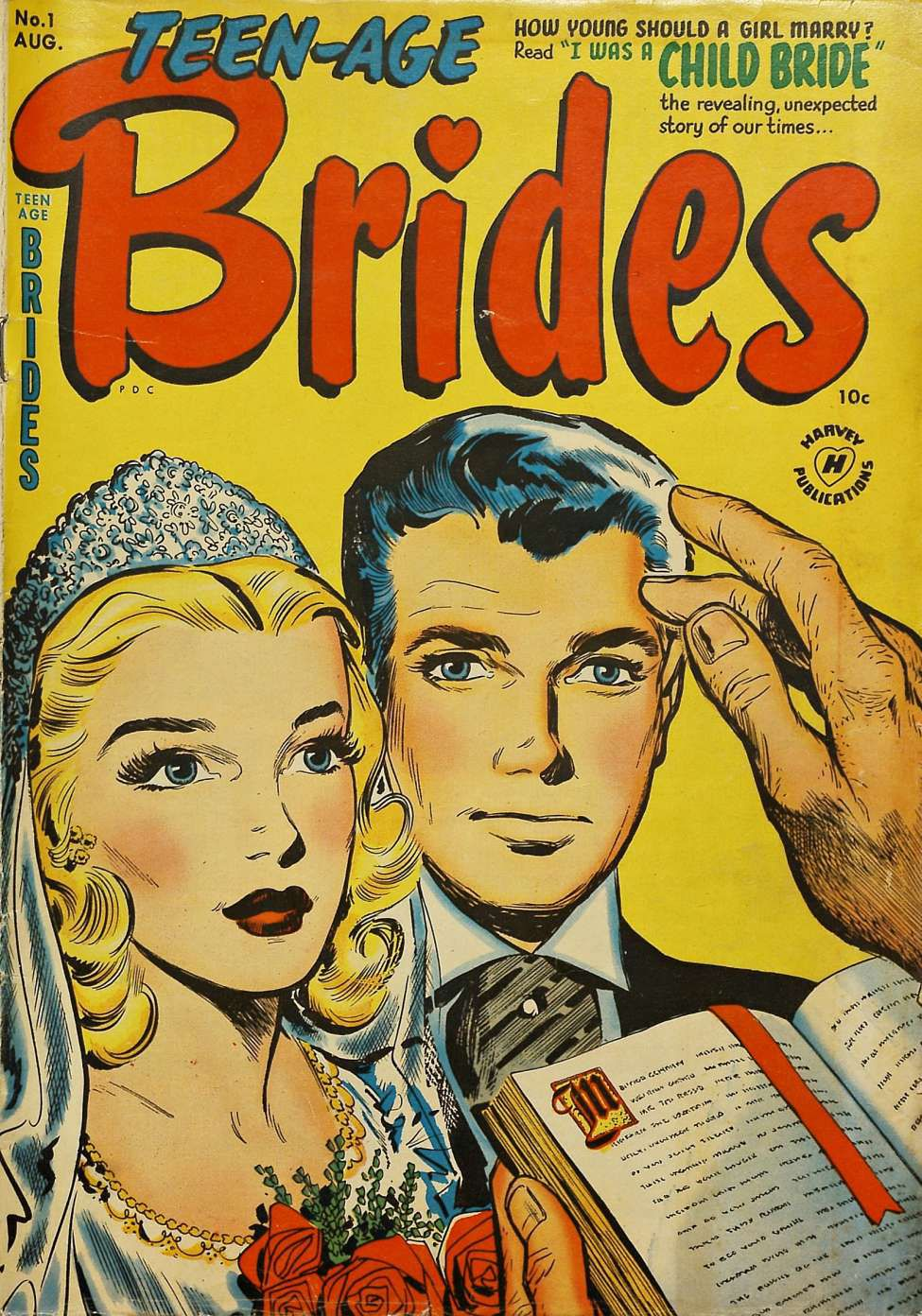 Image of the cover for Teen-Age Brides, issue 1.