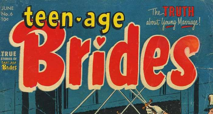 Teen-Age Brides title close up.