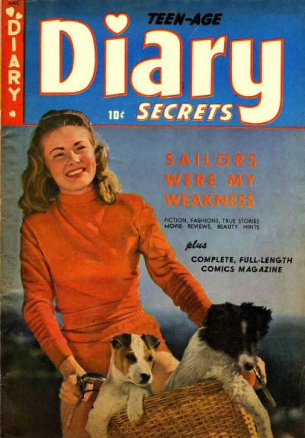 Image of the cover of issue 4 of Teen-Age Diary Secrets.