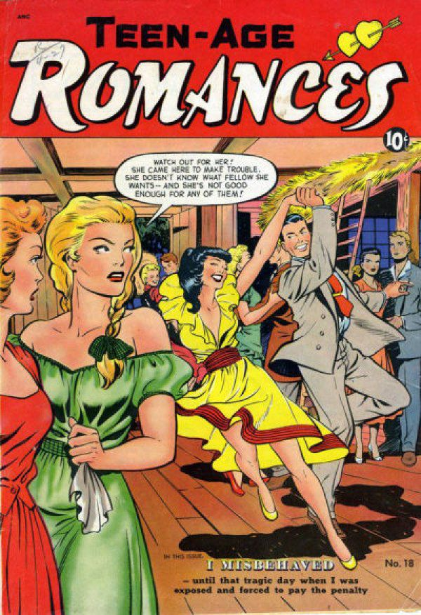Cover for issue 18 of Teen-Age Romances.