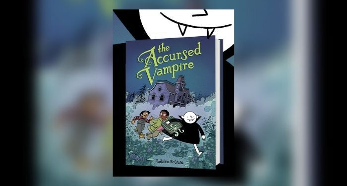 The Accursed Vampire by Madeline McGrane cover with vampire in background