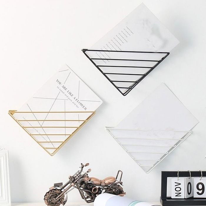 Triangle-shaped wire racks