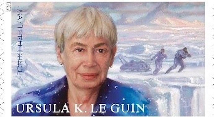 image of the Ursula K Le Guin USPS postage stamp