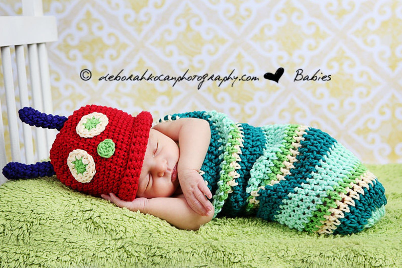 Image of the very hungry caterpillar costume.