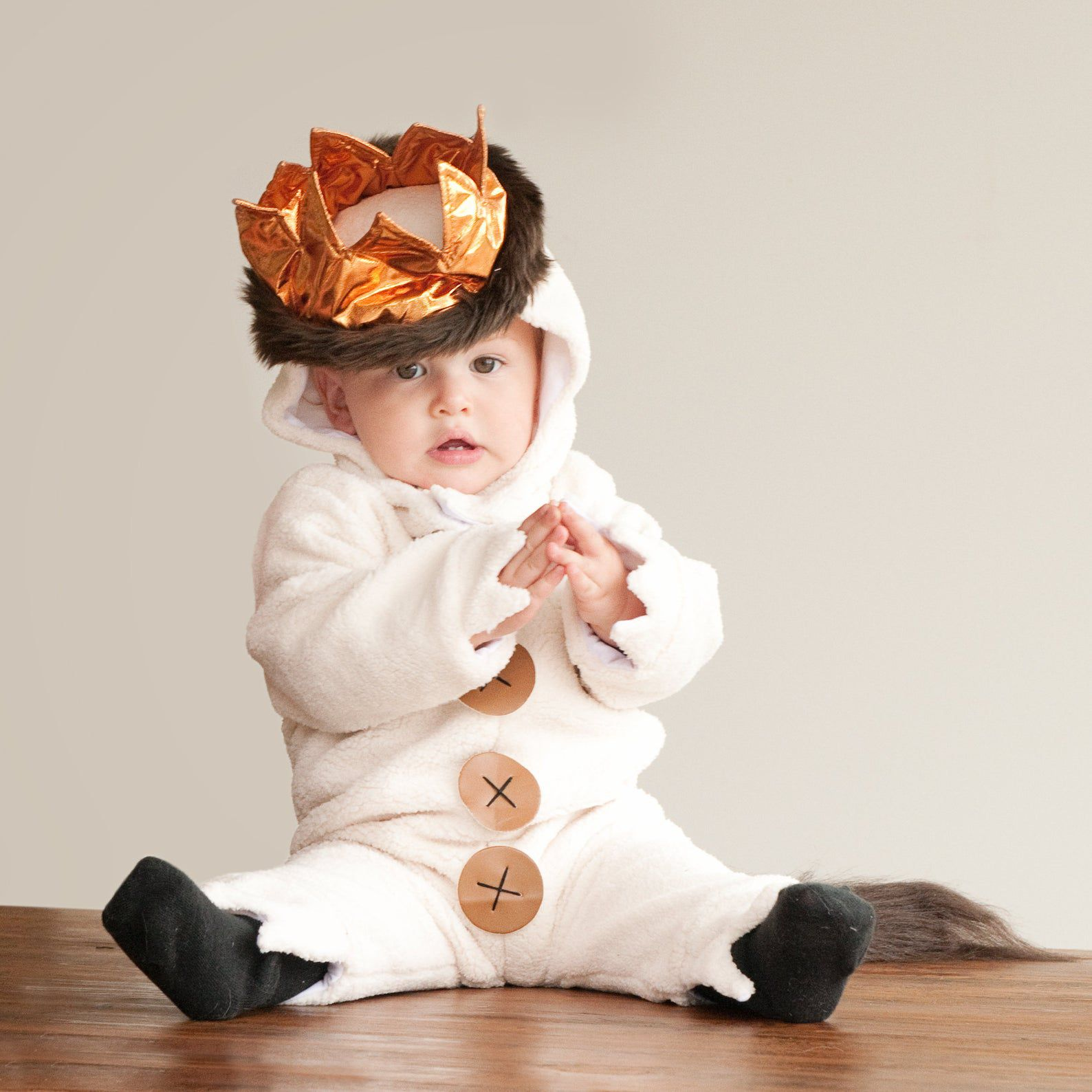 Image of a baby in a Where The Wild Things Are costume