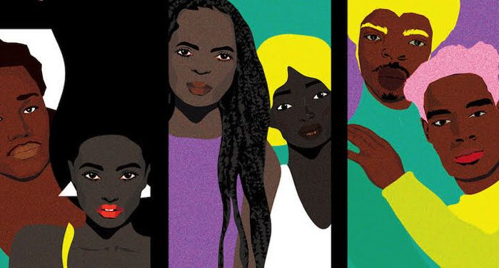 cutout from book cover of Black Love Matters