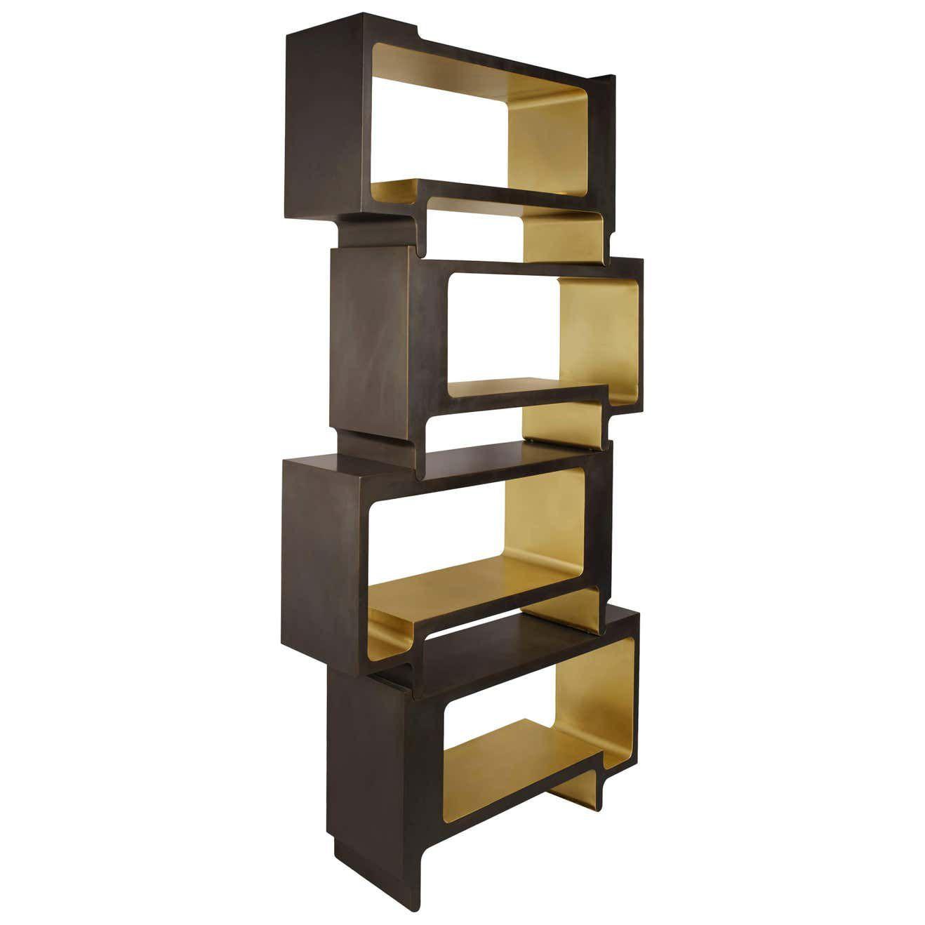 Bronze bookcase divider
