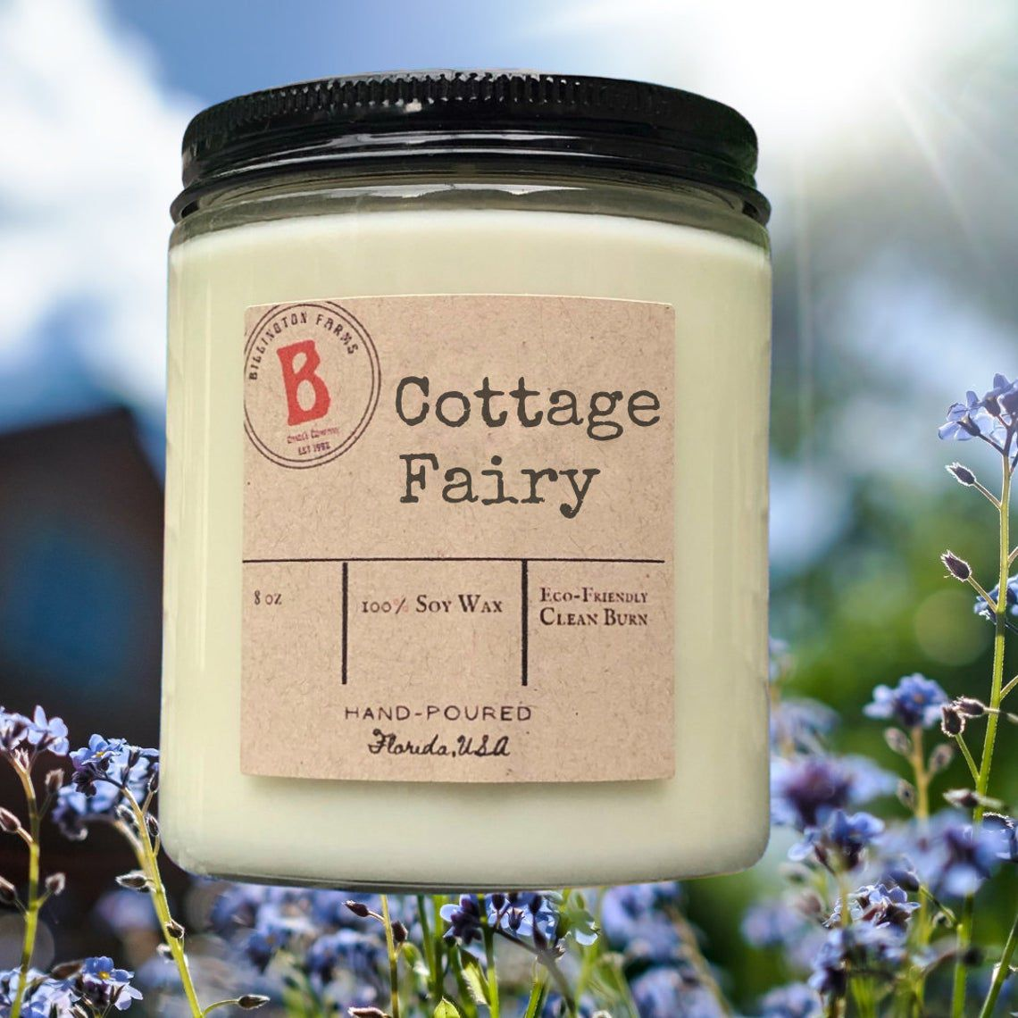 Cottage Fairy candle made by soy wax