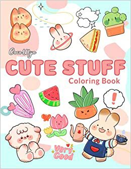 Cute Stuff Coloring Book Coco Wyo with adorable illustrations on the cover