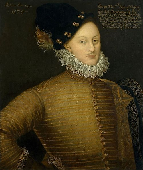 portrait of Edward de Vere, 17th Earl of Oxford