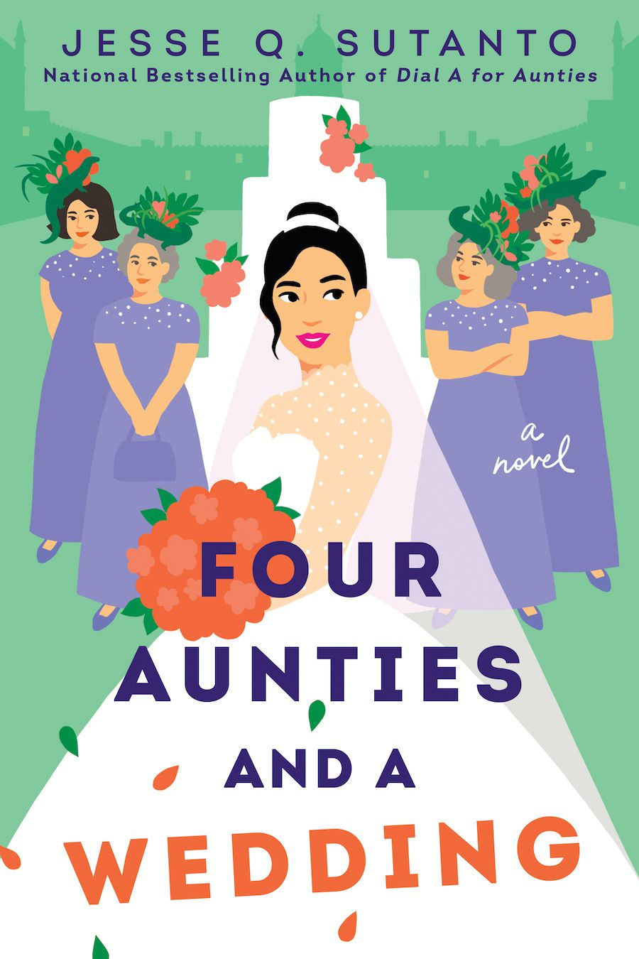 cover image of Four Aunties and a Wedding by Jesse Q Sutanto