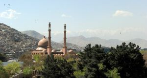 Public domain photo of a mosque in Kabul, Afghanistan