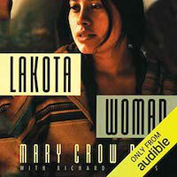 A graphic of the cover of Lakota Woman by Mary Crow Dog