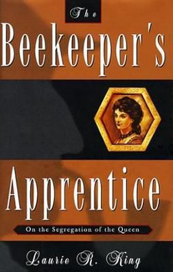 A first edition of The Beekeeper's Apprentice, the copy my middle school library would have had.