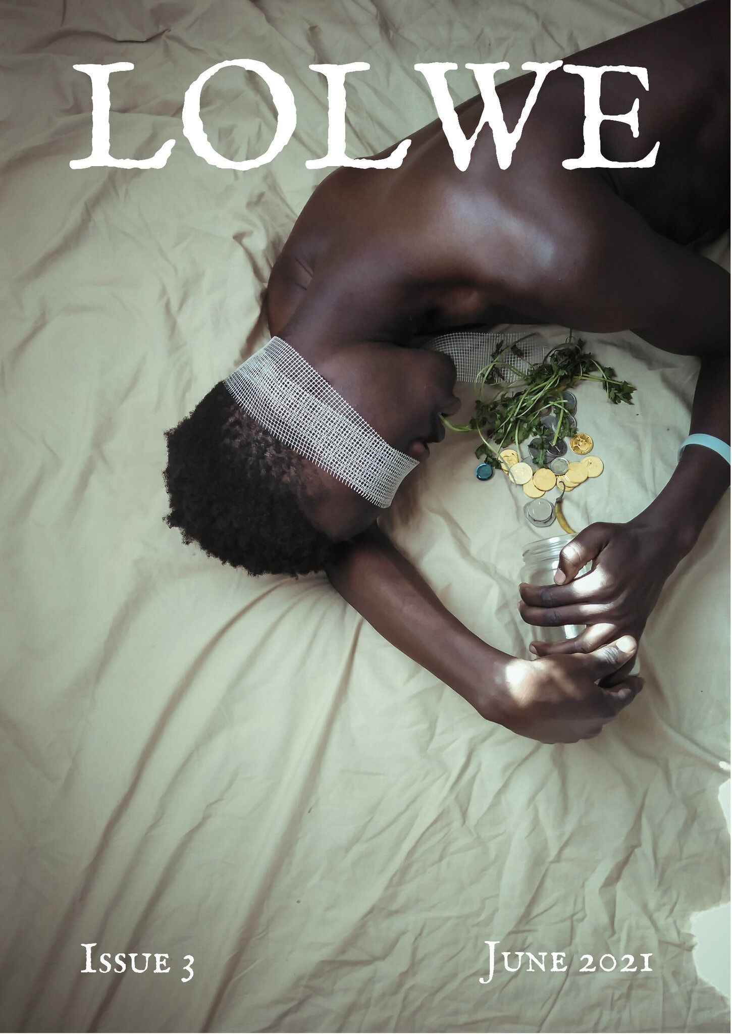 Image of the cover of Issue 3 of the online literary journal Lolwe