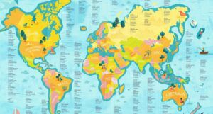 Most Translated Books of the World map