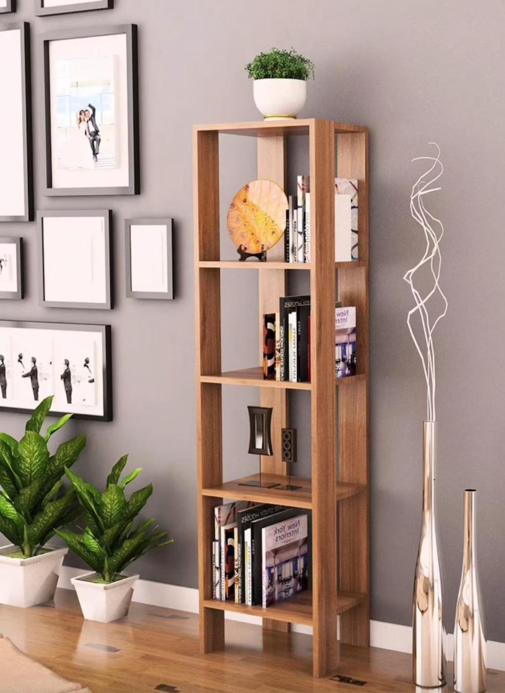 basic narrow bookshelf