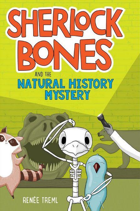 Sherlock Bones and his friend Watts at the Natural History Museum