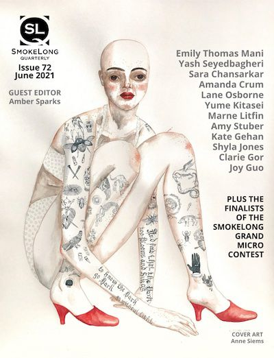 Image of the Cover of issue 72 of SmokeLong Quarterly