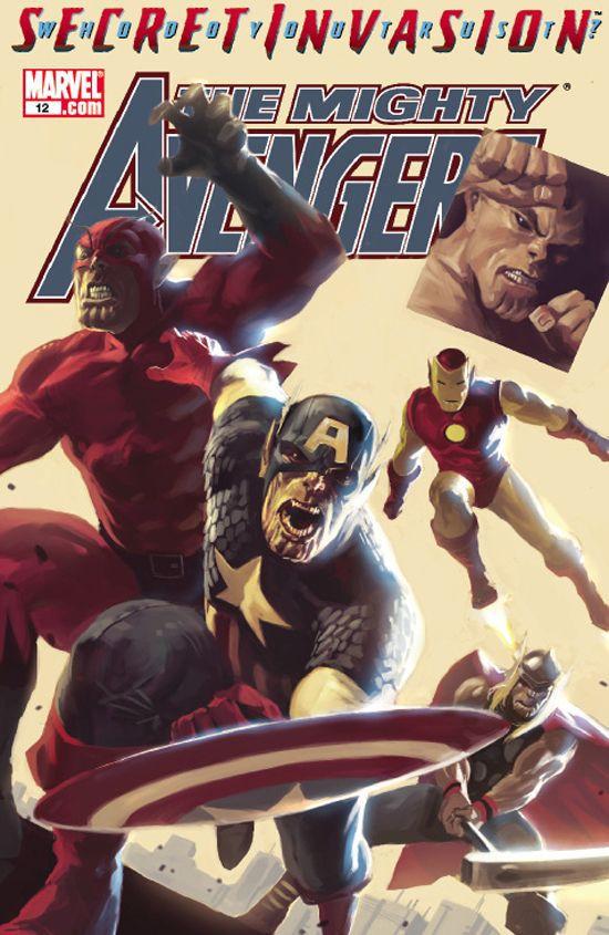 Picture of The Mighty Avengers, Secret Invasion Cover.   https://images-na.ssl-images-amazon.com/images/I/51au7DL6h9L._SY291_BO1,204,203,200_QL40_FMwebp_.jpg