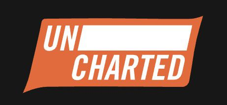 Image of black and orange Uncharted literary journal logo