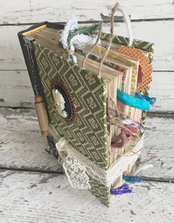 Embellished junk journal from Etsy