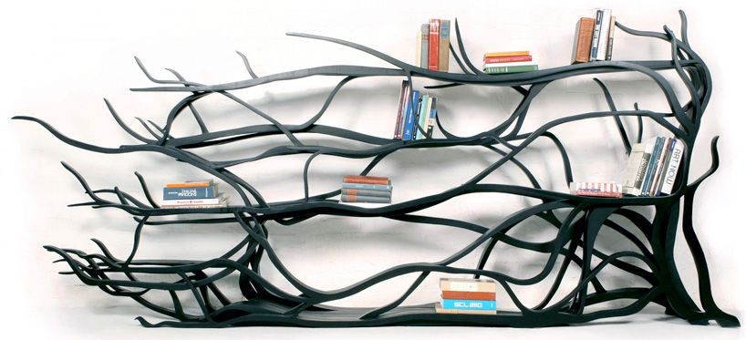 Bookshelf looking like branches or ivy