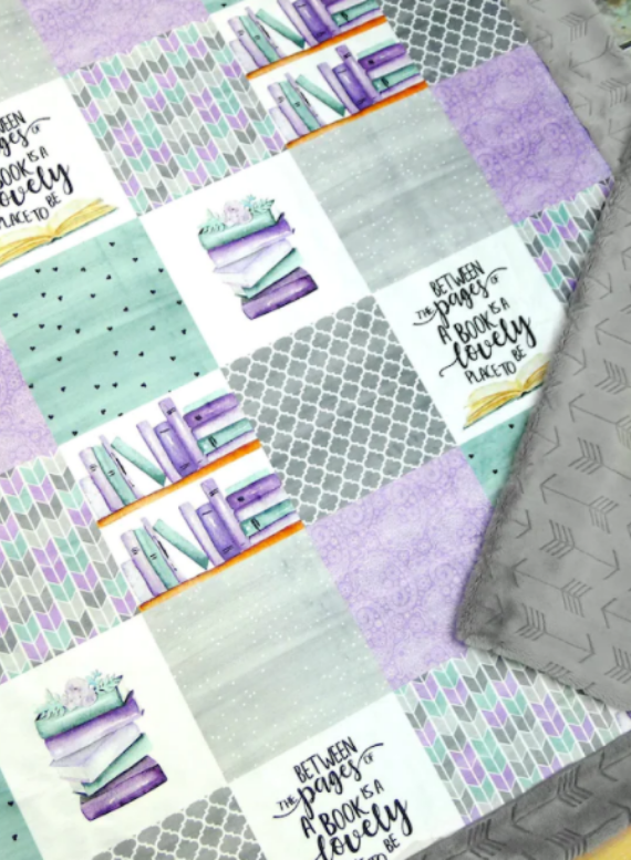 book themed blanket for kid's reading nook image