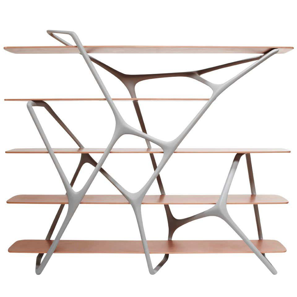 branching bookcase room divider