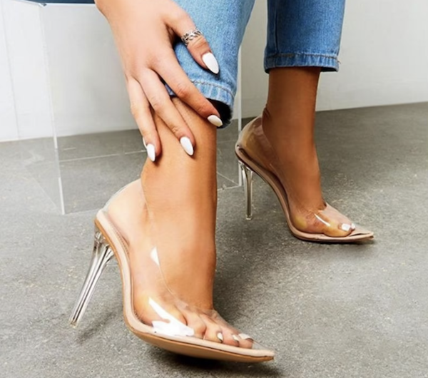 picture of clear high heels