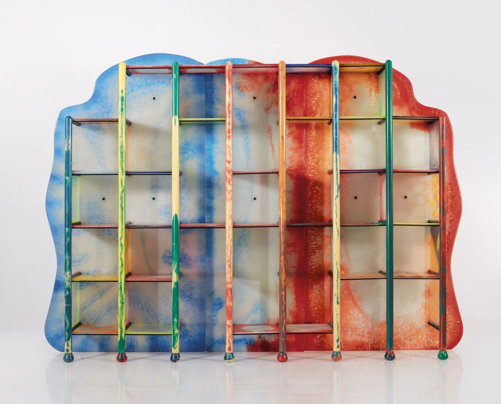 colorful modular bookshelf