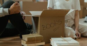 couple unboxing books