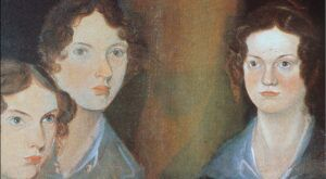 Cropped image of the Bronte sisters
