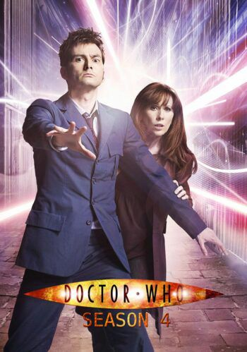 poster for doctor who season four, featuring the doctor and donna