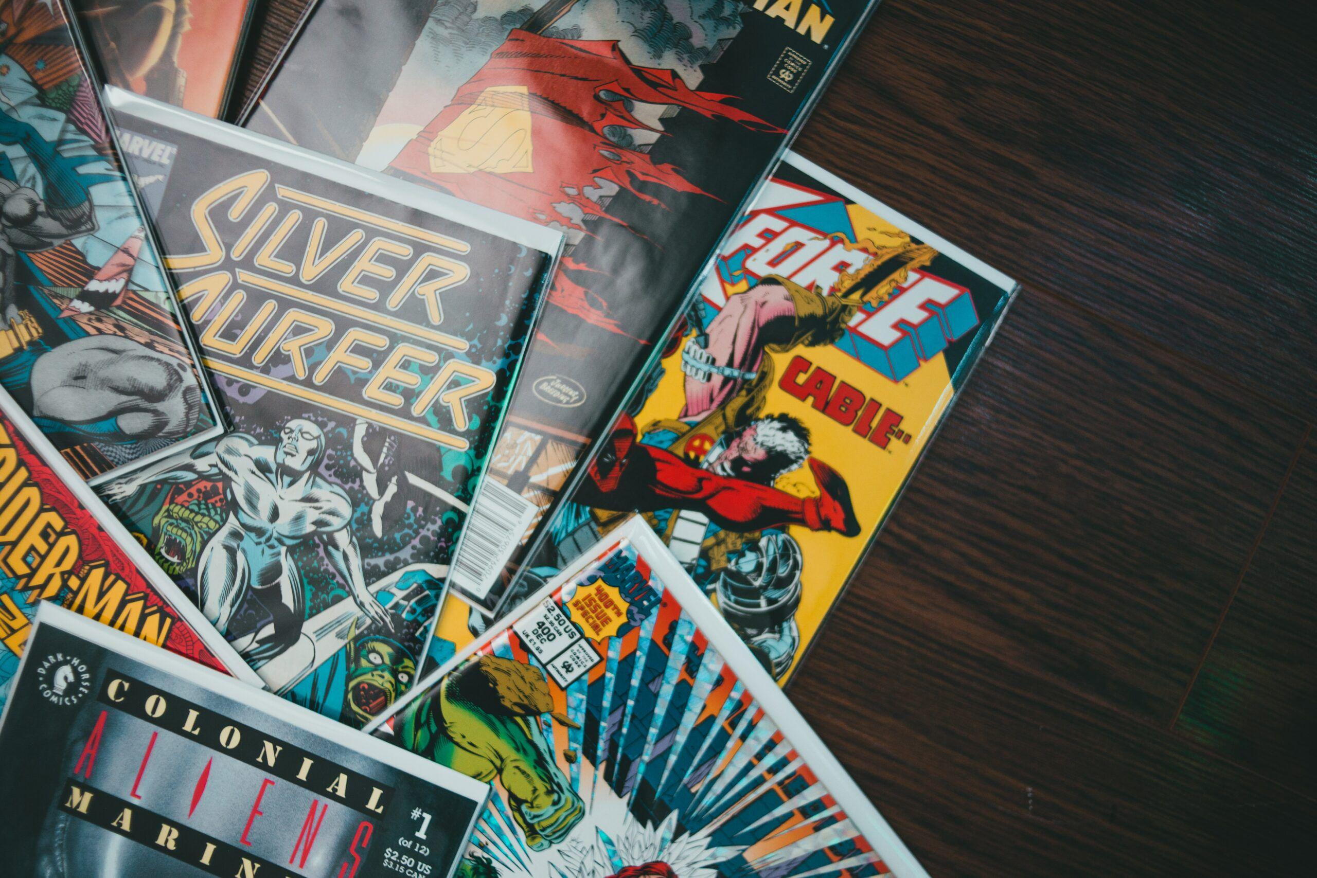 pile of single issue comics