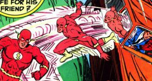 closeup of the cover of The Flash #285 comic book