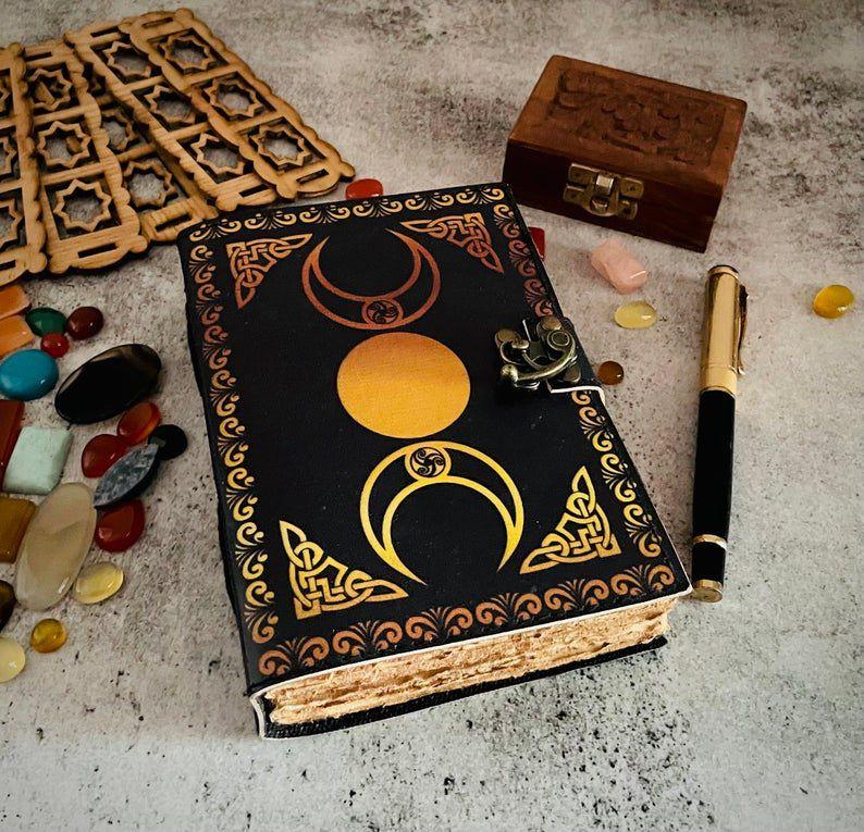 Grimoire-inspired journal.