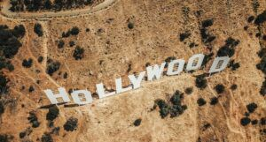 Image of the Hollywood Sign Taken From Above