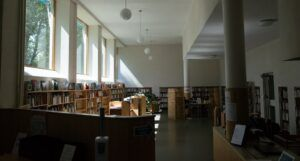 Image of the inside of a library
