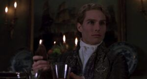 Tom Cruise as the vampire Lestat in a still frame from Interview with the Vampire (1994)