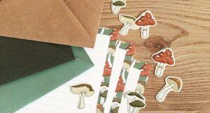 image of mushroom stationary