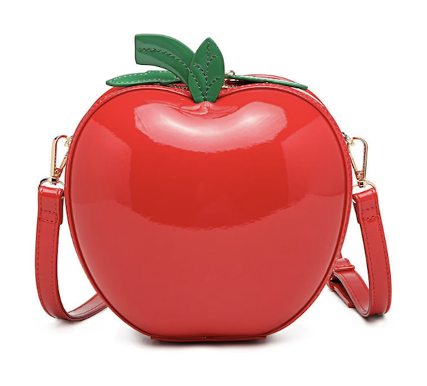 picture of red apple clutch