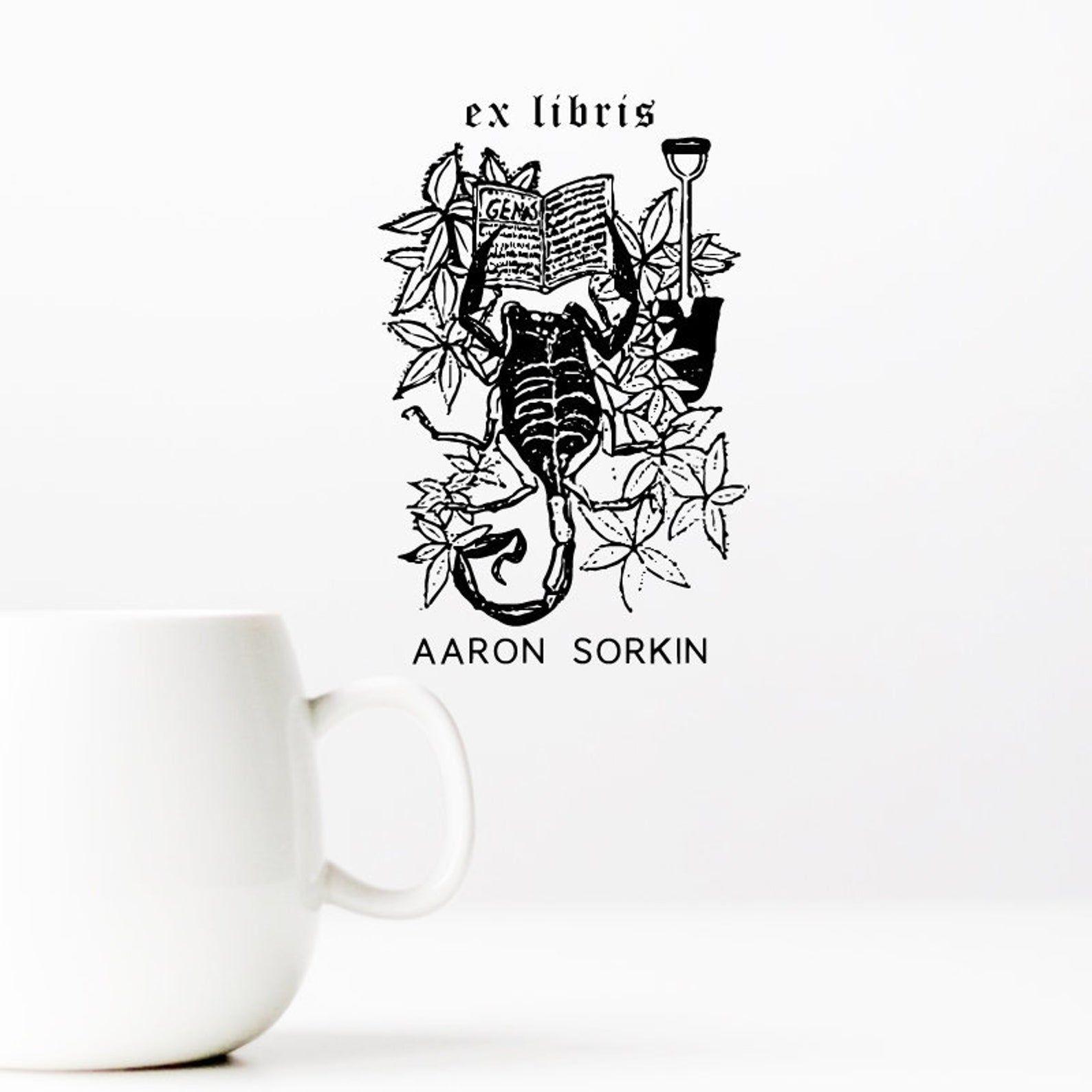 scorpion ex libris stamp