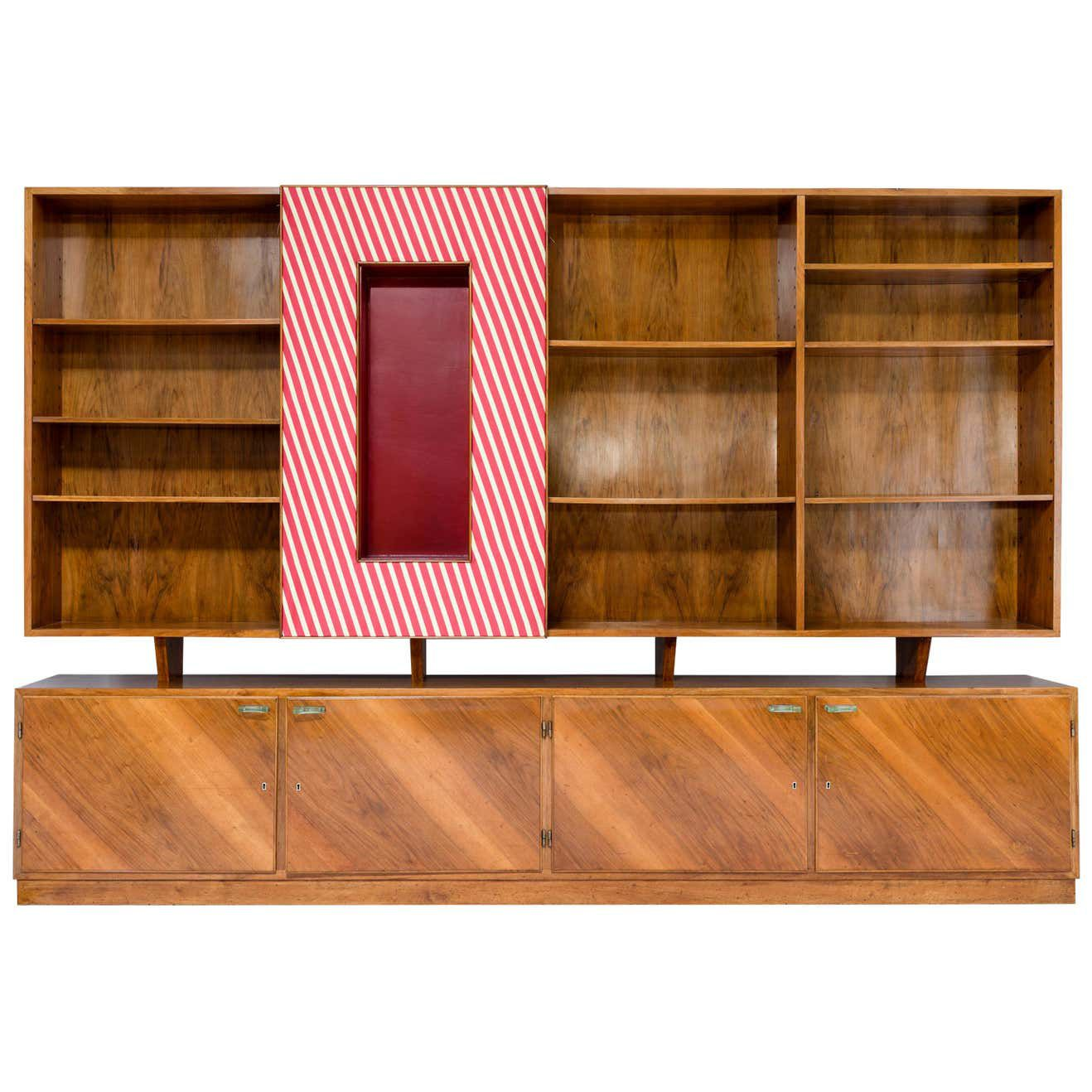 silk and wood bookcase